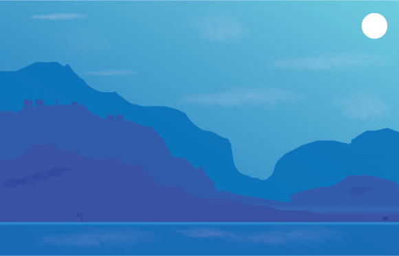 Download Free Sea And Mountain Image Illustration Graphic By Curutdesign for Cricut Explore, Silhouette and other cutting machines.