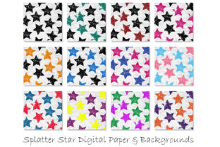 Stars Grunge Pattern Digital Papers Graphic Patterns By GJSArt 2