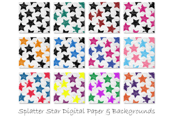 Download Free Stars Grunge Pattern Digital Papers Graphic By Gjsart Creative for Cricut Explore, Silhouette and other cutting machines.