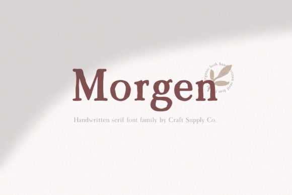 Print on Demand: Morgen Serif Font By craftsupplyco