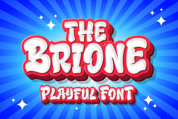 Print on Demand: Brione Display Font By Blankids Studio - Image 1