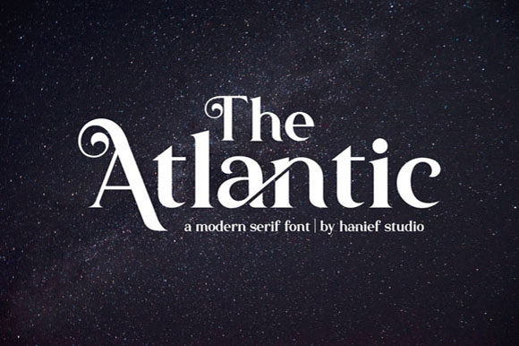 Print on Demand: The Atlantic Serif Schriftarten von Hanzel Studio