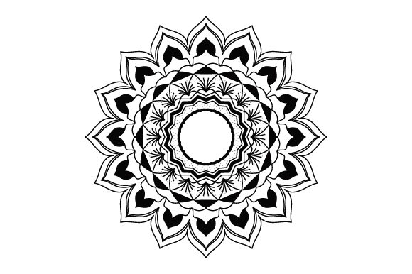 Download Free Flower Mandala Style Svg Cut File By Creative Fabrica Crafts for Cricut Explore, Silhouette and other cutting machines.