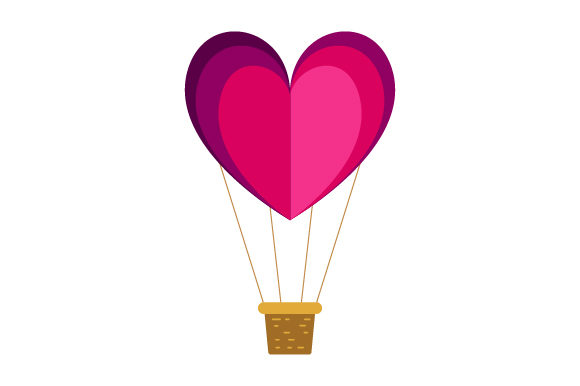 Download Free Heart Shaped Hot Air Balloon Svg Cut File By Creative Fabrica for Cricut Explore, Silhouette and other cutting machines.