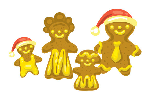 Download Free Gingerbread Family Svg Cut File By Creative Fabrica Crafts Creative Fabrica SVG Cut Files