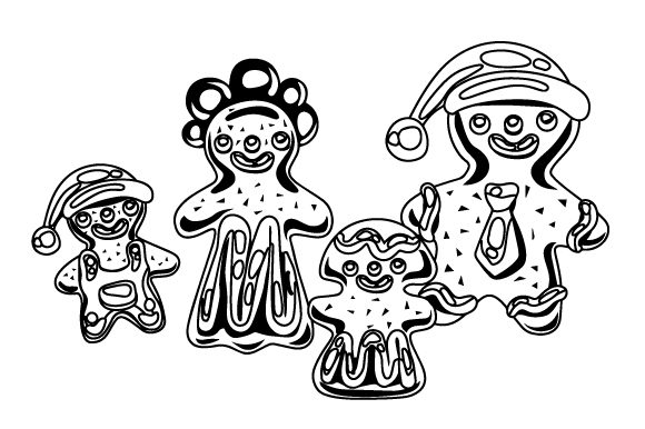 Download Free Gingerbread Family Svg Cut File By Creative Fabrica Crafts for Cricut Explore, Silhouette and other cutting machines.
