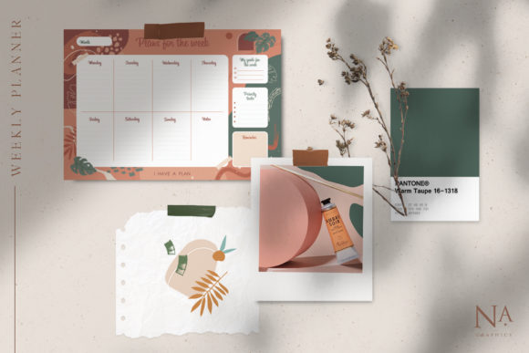 Modernistic Weekly Planner Graphic Illustrations By NassyArt - Image 2