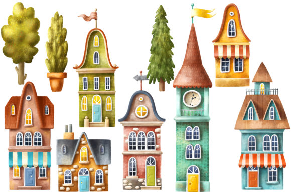 Print on Demand: Old House Clipart Graphic Illustrations By Architekt_AT - Image 2