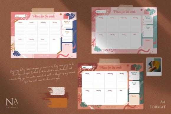 Modernistic Weekly Planner Graphic Illustrations By NassyArt - Image 3
