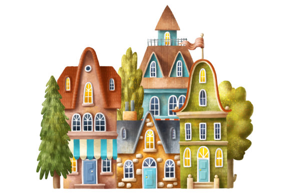Print on Demand: Old House Clipart Graphic Illustrations By Architekt_AT - Image 3