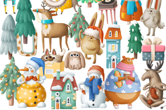 Print on Demand: BIG Christmas Bundle Graphic Illustrations By Architekt_AT - Image 8