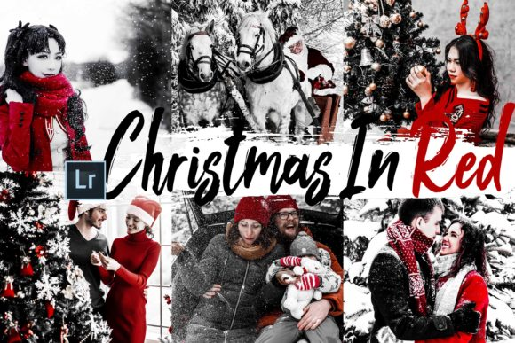 Print on Demand: Christmas in Red Lightroom Preset, ACR Graphic Actions & Presets By 3Motional