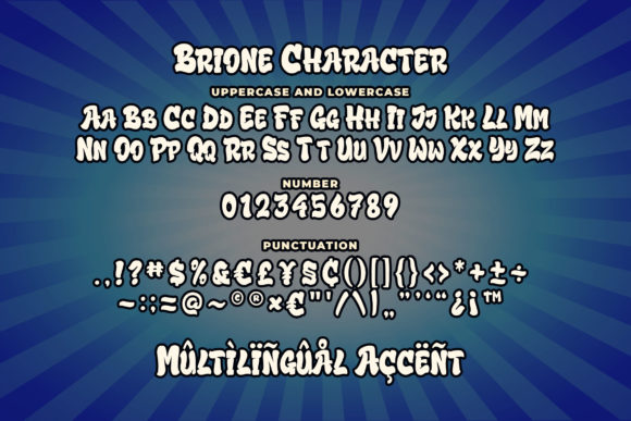 Print on Demand: Brione Display Font By Blankids Studio - Image 4