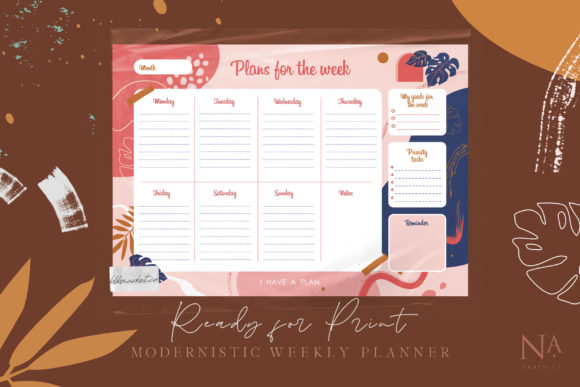 Modernistic Weekly Planner Graphic Illustrations By NassyArt - Image 6