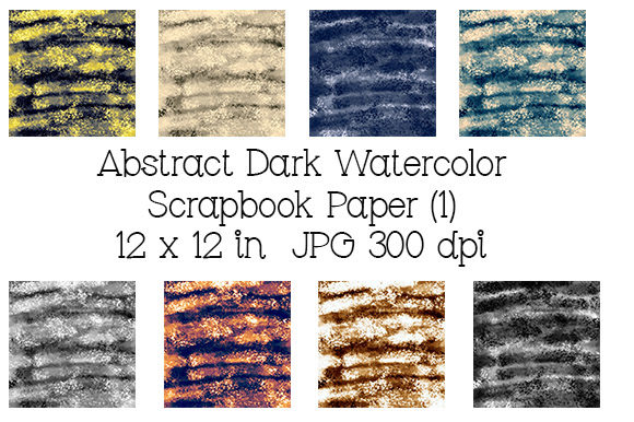 Download Free Abstract Dark Watercolor Scrapbook Paper Graphic By Kathryn for Cricut Explore, Silhouette and other cutting machines.