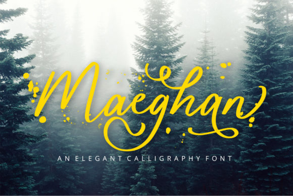 Print on Demand: Maeghan Script & Handwritten Font By formatikastd