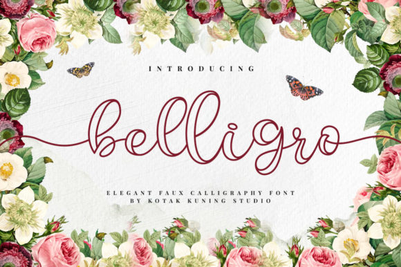 Print on Demand: Belligro Script & Handwritten Font By Kotak Kuning Studio - Image 1