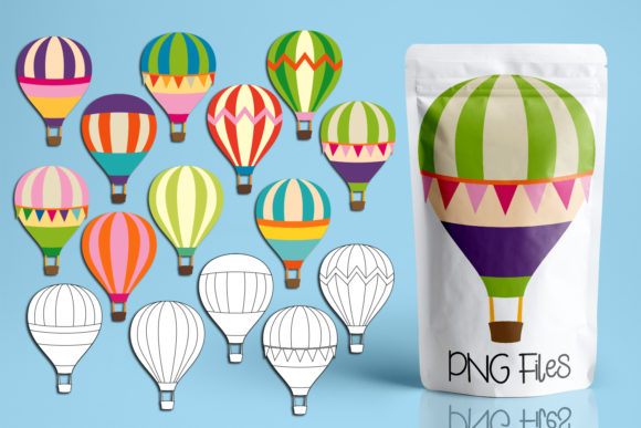 Print on Demand: Hot Air Balloons Graphic Illustrations By Revidevi