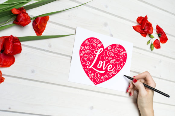 Print on Demand: Cute Valentine's Day Cards-Valentines Graphic Illustrations By Happy Printables Club - Image 2