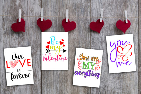 Print on Demand: Cute Valentine's Day Cards-Valentines Graphic Illustrations By Happy Printables Club - Image 10