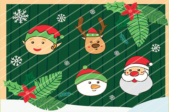 Print on Demand: Christmas Cute Character Graphic Illustrations By GoldenFlower