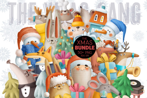 Print on Demand: BIG Christmas Bundle Gráfico Ilustraciones Por Architekt_AT