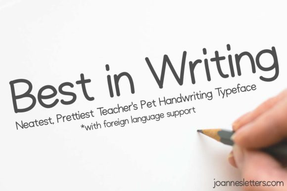 Print on Demand: Best in Writing Sans Serif Font By trojillojoannarose
