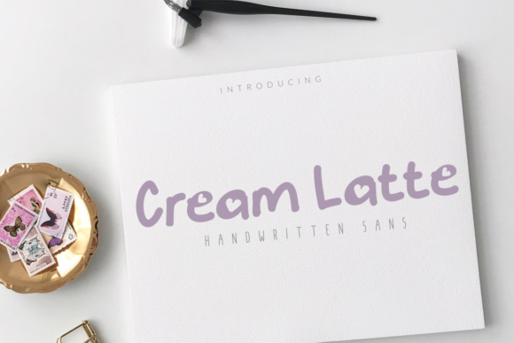 Print on Demand: Cream Latte Script & Handwritten Font By mozyenstudio
