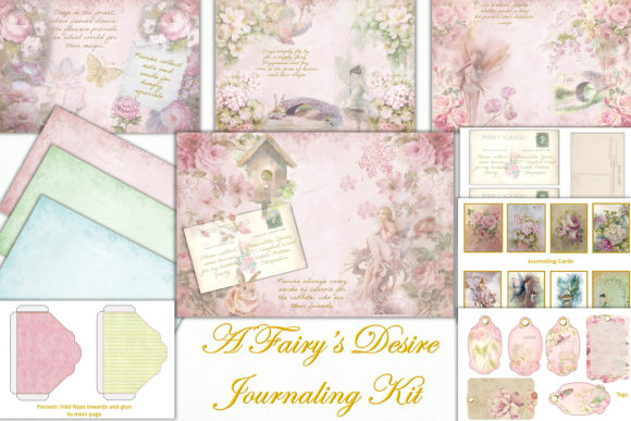Print on Demand: Fairy Journaling Kit & Free Ephemera Grafik Plotterdateien von The Paper Princess