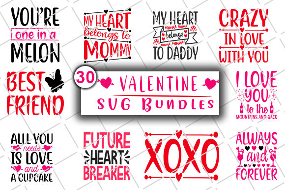 Download Free Valentine S Day Bundle Graphic By Creativeart Creative Fabrica for Cricut Explore, Silhouette and other cutting machines.