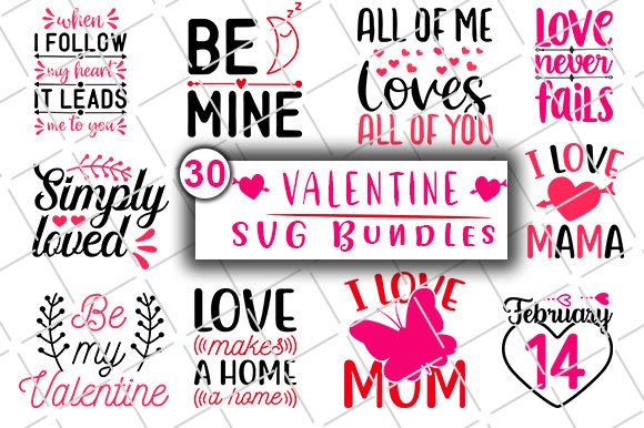 Print on Demand: Valentine's Day Bundle Graphic Crafts By CreativeArt