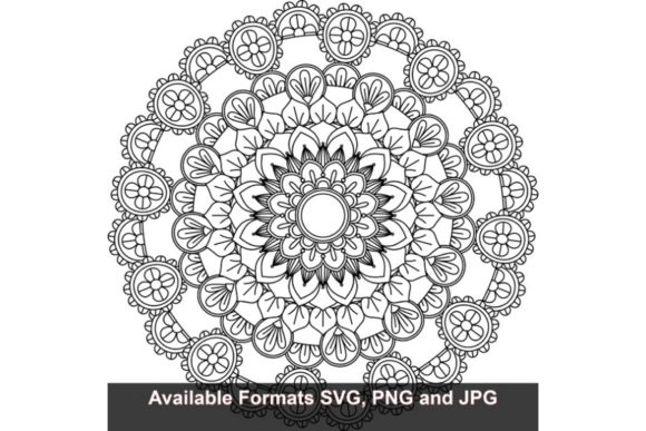 Download Free Mandala Art 345 Graphic Graphic By Iwantto Us Creative Fabrica for Cricut Explore, Silhouette and other cutting machines.