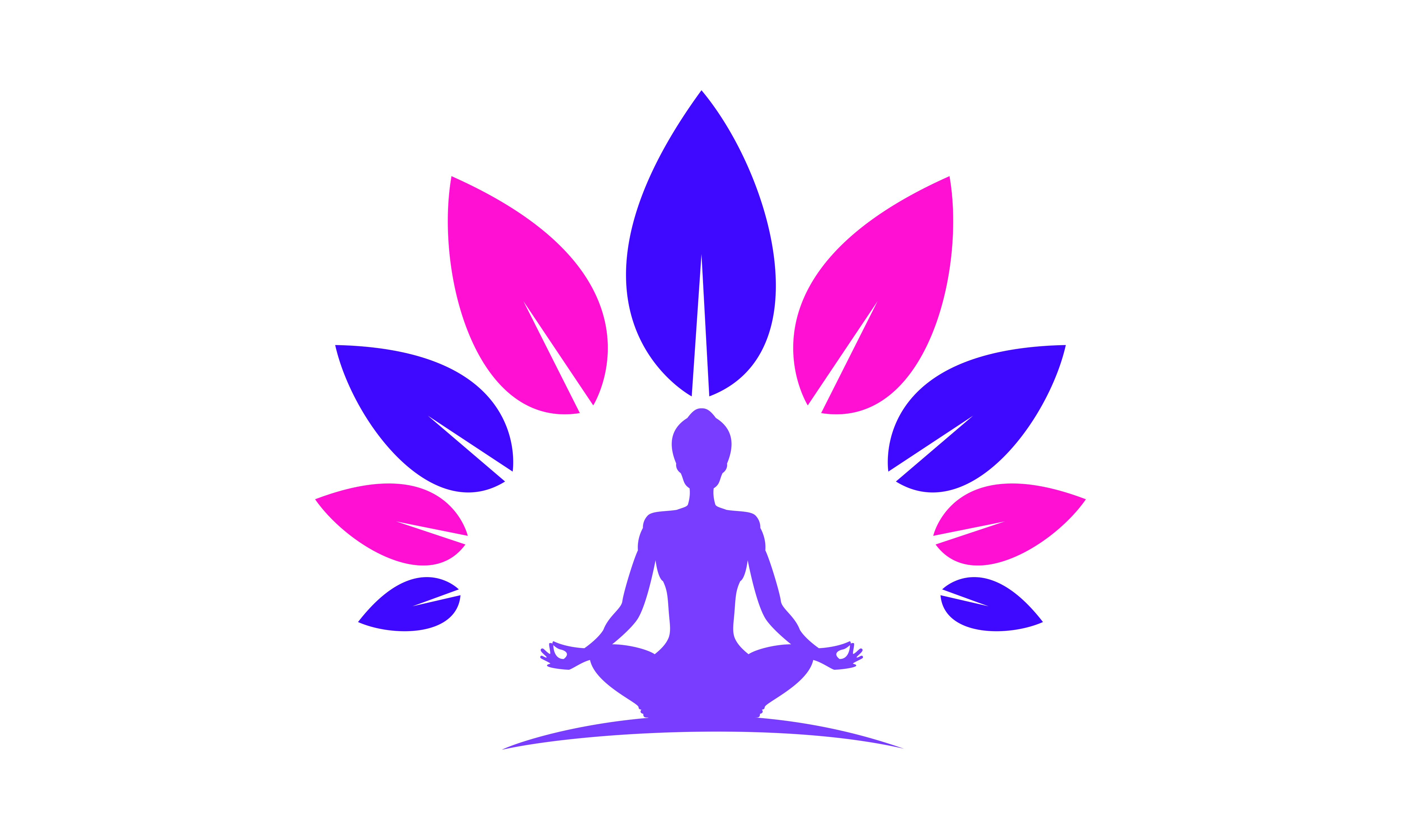 Download Free Yoga Logo Design Stock Human Meditation Graphic By Deemka for Cricut Explore, Silhouette and other cutting machines.