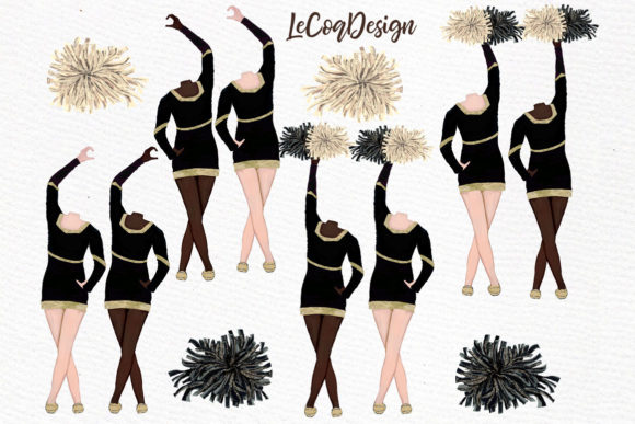 Download Free Cheerleaders Clipart Sport Girls Graphic By Lecoqdesign for Cricut Explore, Silhouette and other cutting machines.
