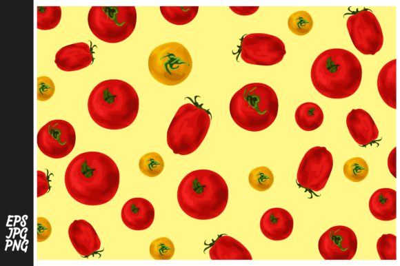 Print on Demand: Tomato Pattern Theme Graphic Crafts By Arief Sapta Adjie