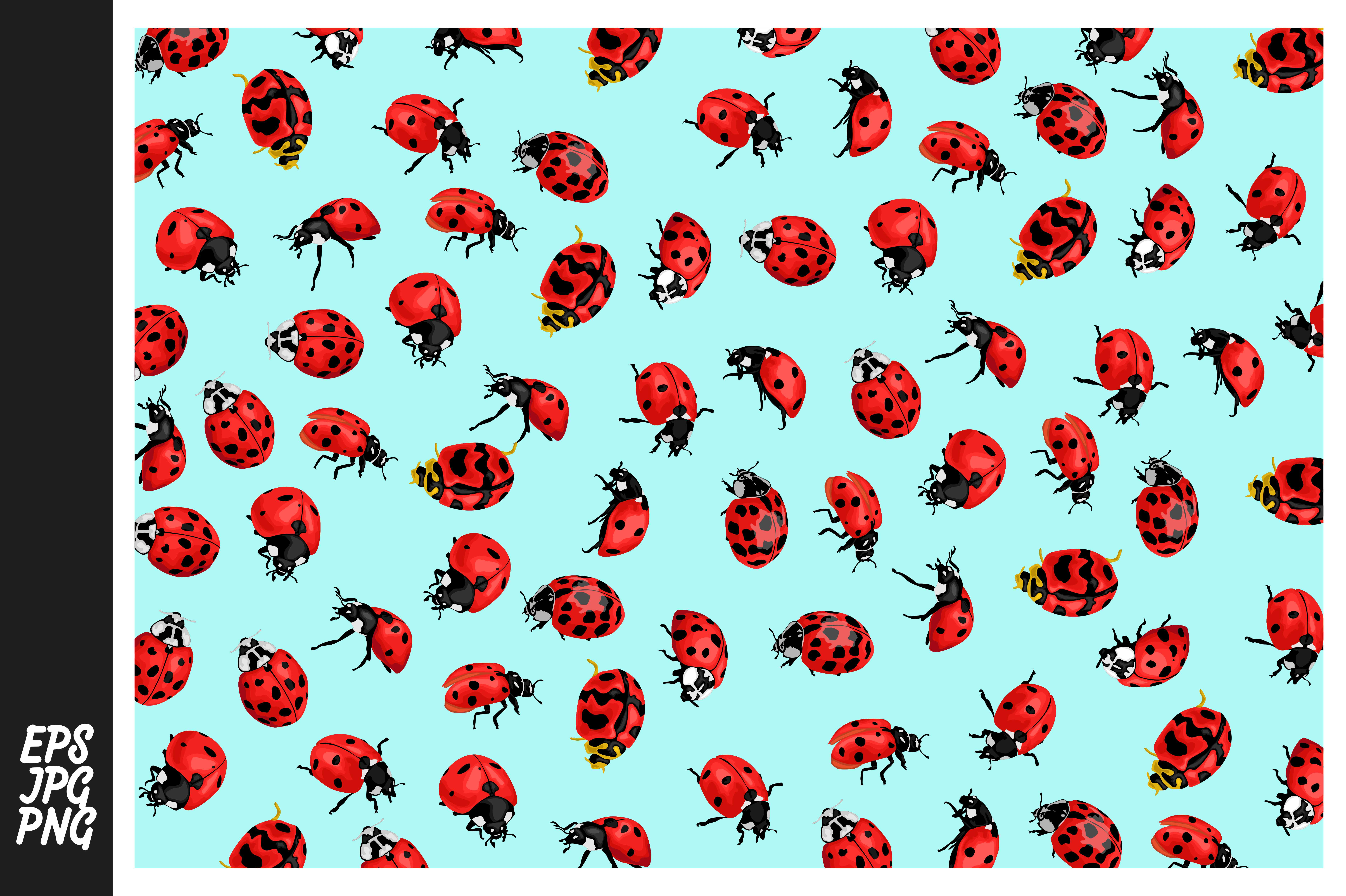 Download Free Ladybug Pattern Theme Graphic By Arief Sapta Adjie Ii Creative for Cricut Explore, Silhouette and other cutting machines.