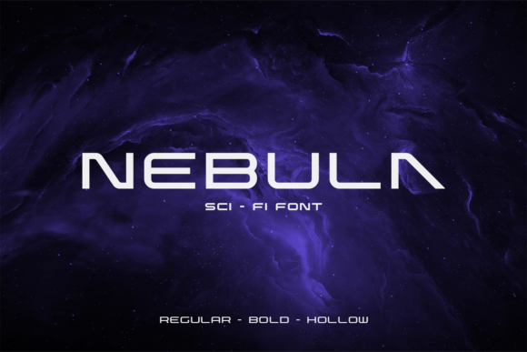 Print on Demand: Nebula Display Font By fadielm70