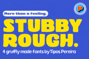 Print on Demand: Stubby Rough Display Font By Tipos Pereira