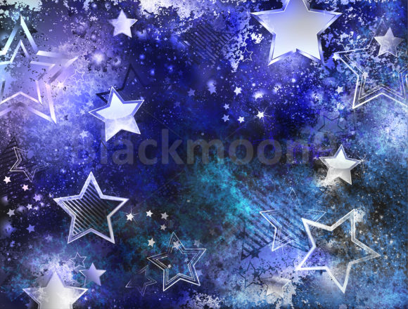 Space Background with Stars Graphic Backgrounds By Blackmoon9