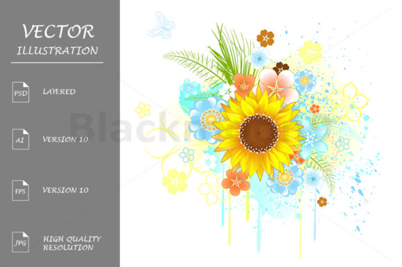 Summer Sunflower Graphic Illustrations By Blackmoon9