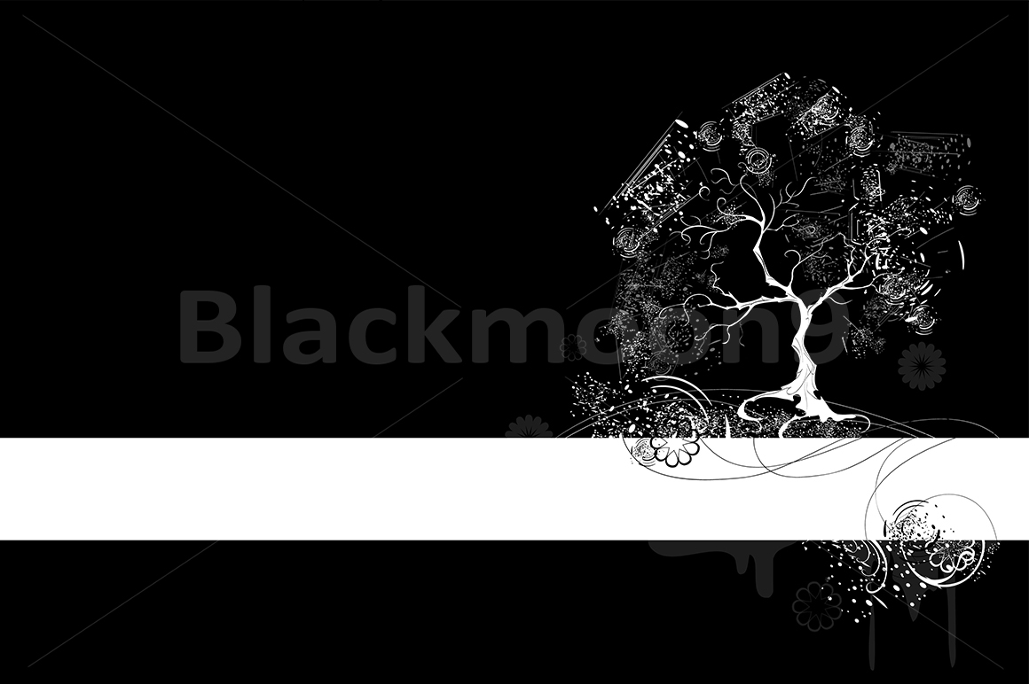 Download Free White Tree On Black Background Graphic By Blackmoon9 Creative for Cricut Explore, Silhouette and other cutting machines.