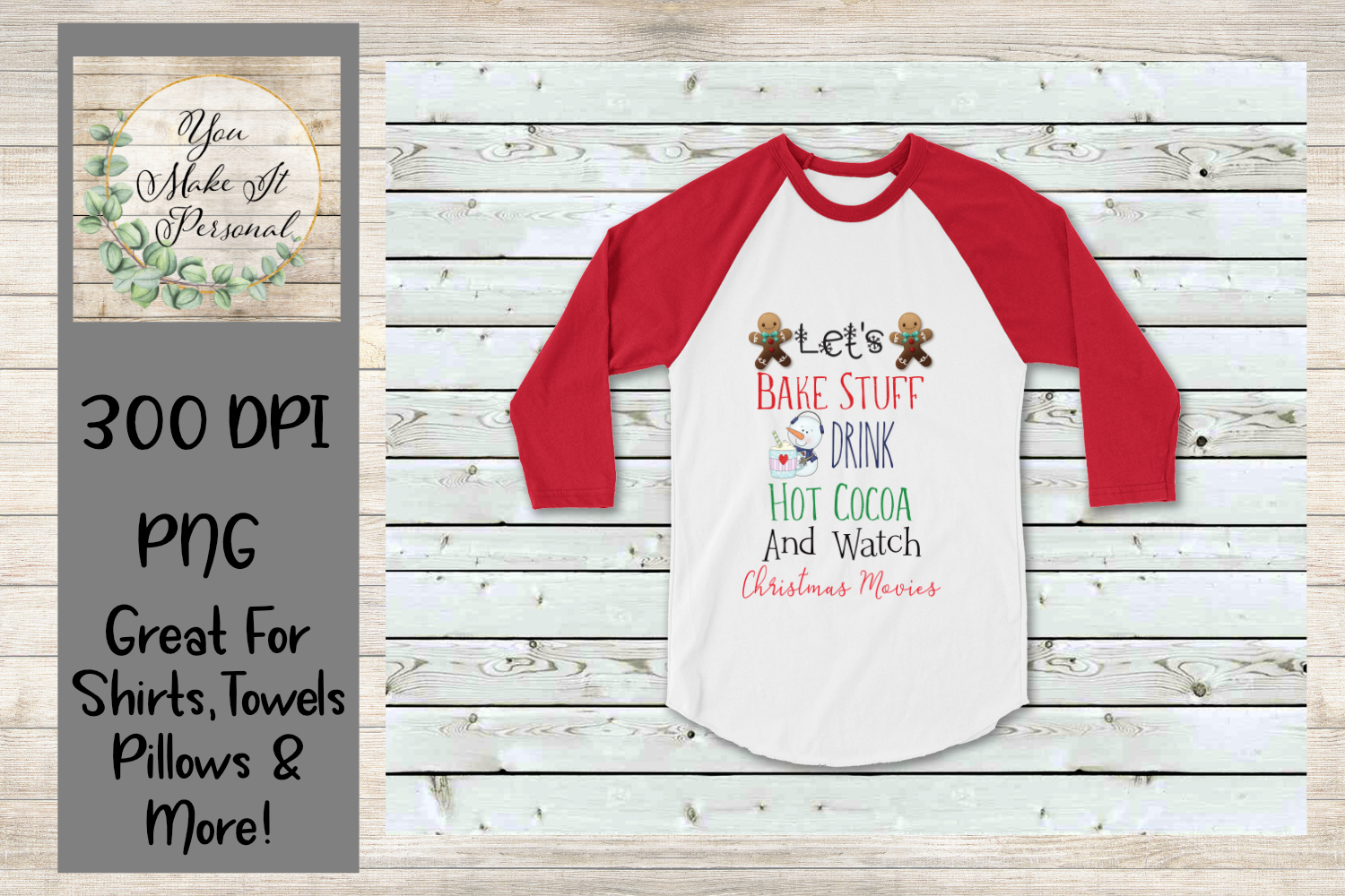 Download Free Watch Christmas Movies Design Graphic By You Make It Personal for Cricut Explore, Silhouette and other cutting machines.