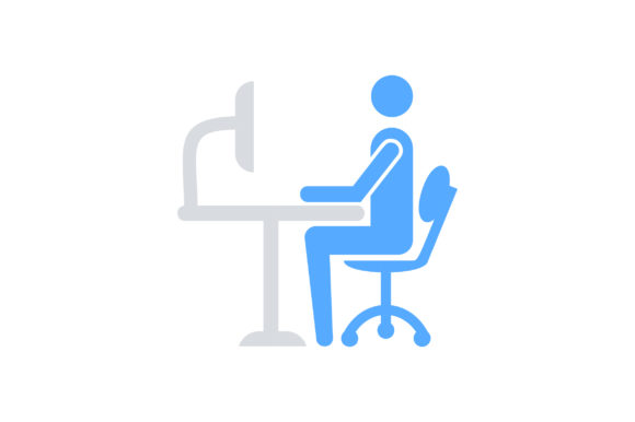 Download Free Man Sit On Chair And Work On Computer Graphic By Riduwan Molla SVG Cut Files