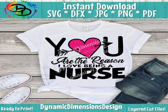 Download Free Love Being A Nurse Graphic By Dynamicdimensions Creative Fabrica for Cricut Explore, Silhouette and other cutting machines.
