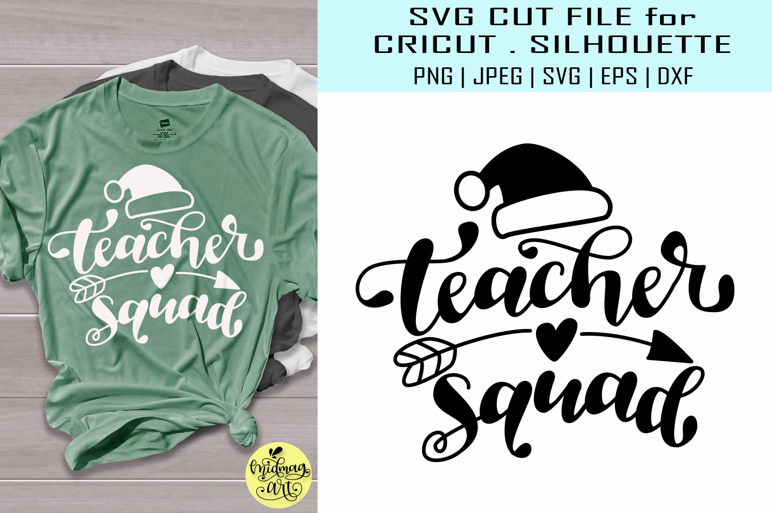 Download Free Teacher Squad Graphic By Midmagart Creative Fabrica for Cricut Explore, Silhouette and other cutting machines.