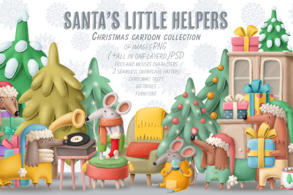 Download Free Christmas Scene Creator Graphic By Architekt At Creative Fabrica for Cricut Explore, Silhouette and other cutting machines.