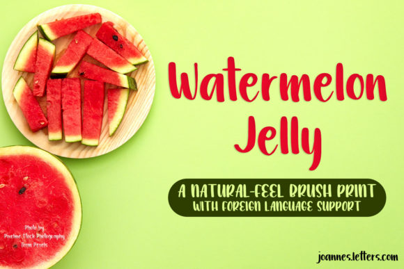 Print on Demand: Watermelon Jelly Script & Handwritten Font By trojillojoannarose