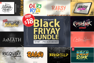 Print on Demand: Black Friyay BUNDLE Graphic Brushes By DK Project