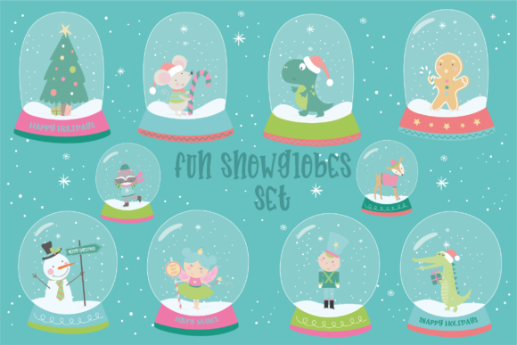 Print on Demand: Fun Snowblobes Graphic Illustrations By poppymoondesign