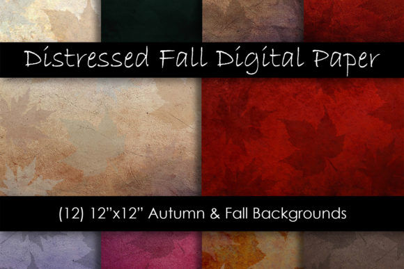 Distressed Fall Leaf Textures Graphic Textures By GJSArt - Image 1
